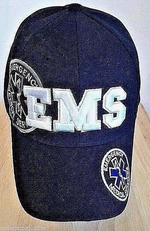 Details About Emergency Medical Services Cap With Embroidered