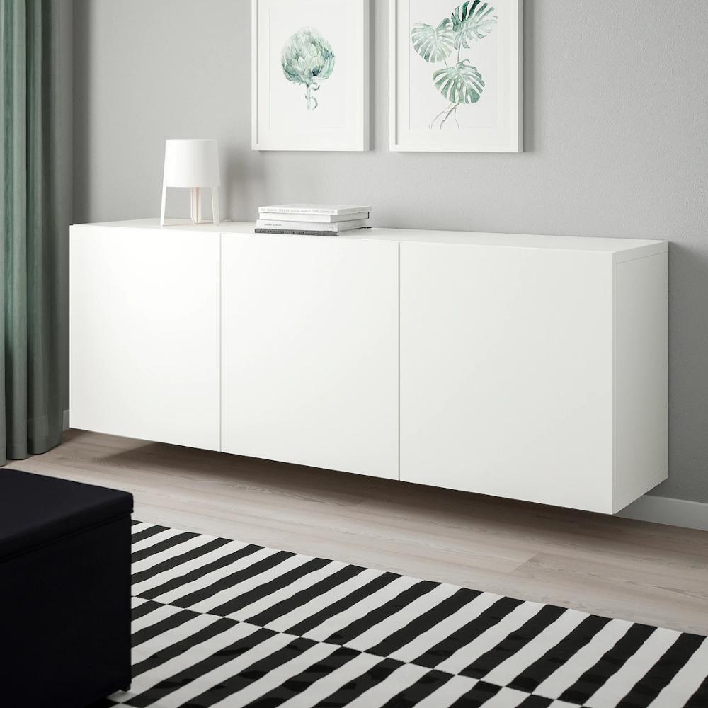 Besta Estanteria De Cubos Blanco Lappviken Blanco 180x42x64 Cm Ikea In 2020 Wall Mounted Cabinet Ikea Ikea Sideboard