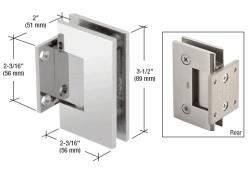 Gen074ch Crl Chrome Geneva 074 Series Wall Mount Short Back Plate Hinge Frameless Shower Doors Hardware Plates On Wall Shower Door Hardware
