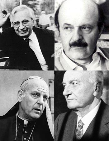 Licio Gelli, Roberto Calvi, monsignor Paul Marcinkus e Michele Sindona Mafia, Einstein, Storia, Panchine