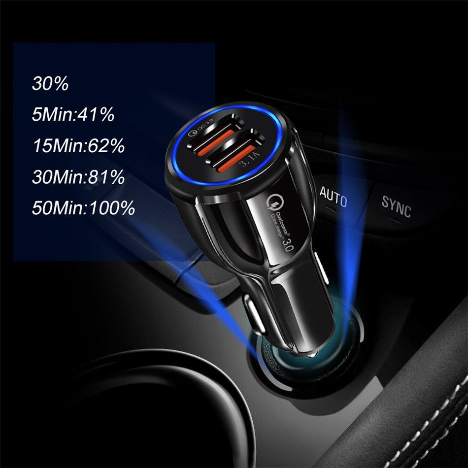 Car USB Charger Quick Charge 3.0 2.0 Mobile Phone Charger 2