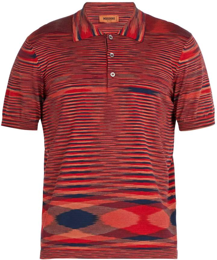 Attractive Missoni Striped cotton-knit polo shirt | Missoni and Products OW86