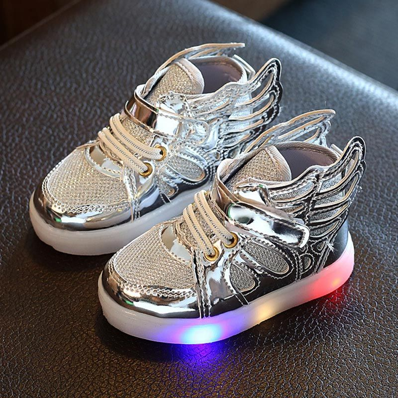 Kid LED Boy Light Up Athletic Shoes Girl Casual Sneakers Luminous Baby Prewalker