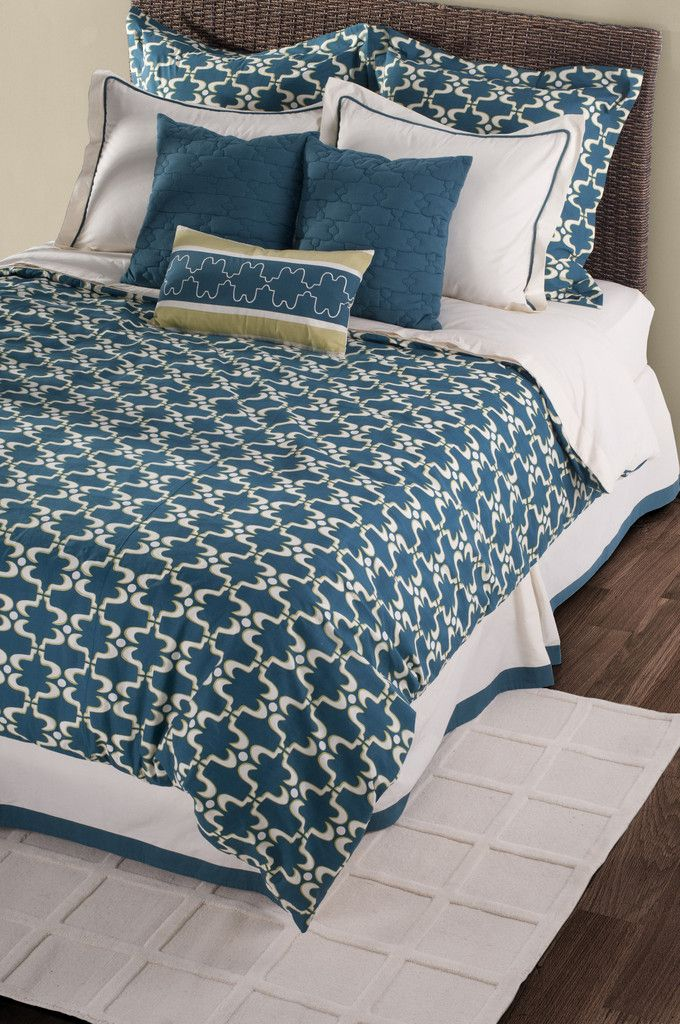 Azuela Peacock Blue King Size Duvet With Poly Insert Bed Set
