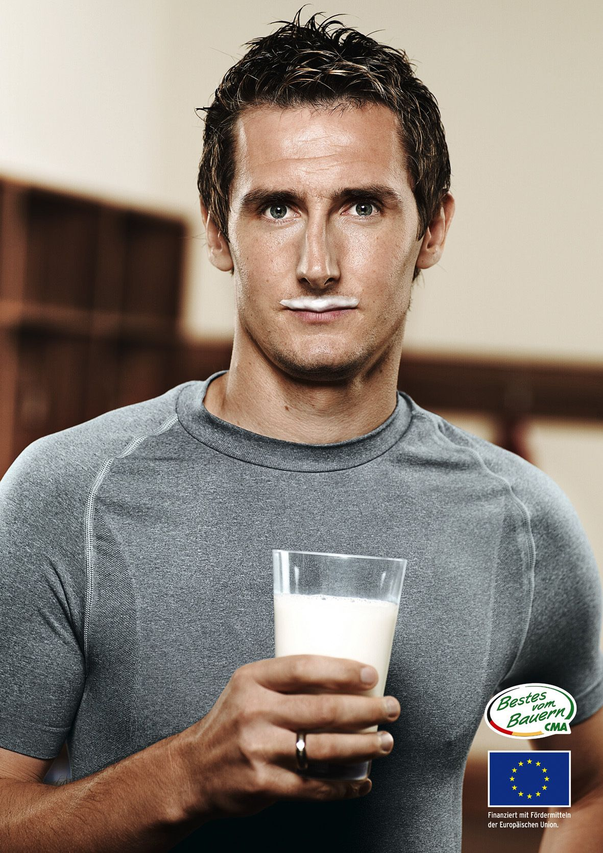 1833d8969 ... Miroslav Klose Miroslav Klose 11- Germany - Forward and his sexy milk  mustache.