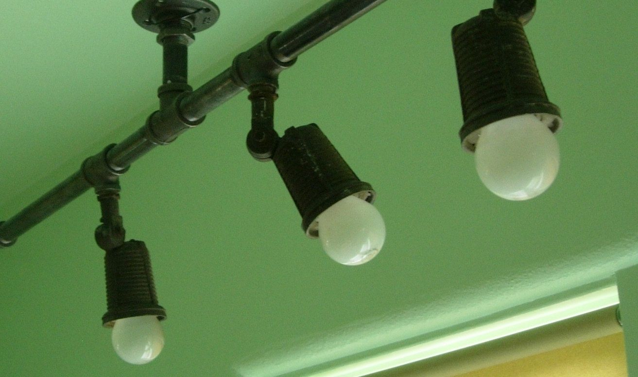 UPCYCLED INDUSTRIAL LIGHTS - Vintage Industrial/Barn/Gas Station ...