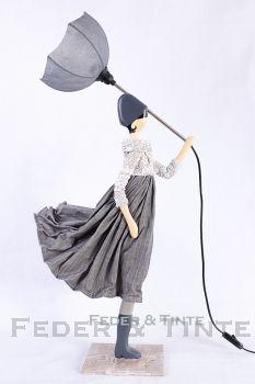 Standleuchte Dekor Schirmlampe Frau Beleuchteter Regenschirm Regenschirm Frau Sonnenschirm Lampe Frau Frau Mit Schirm Tischlampen Lampe Standleuchte