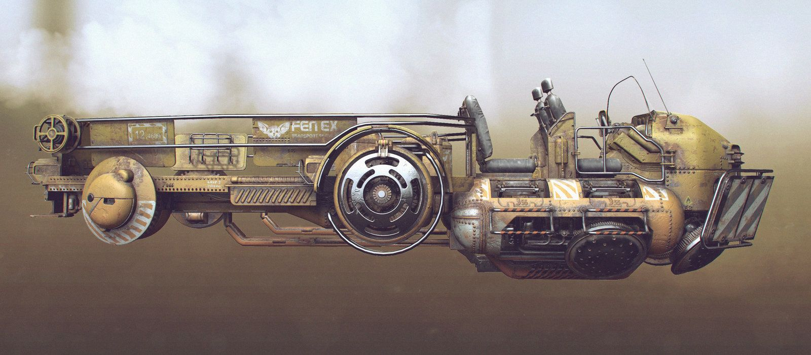 Transport vehicle Lowpoly, Tor Frick on ArtStation at https://www.artstation.com/artwork/QK68x