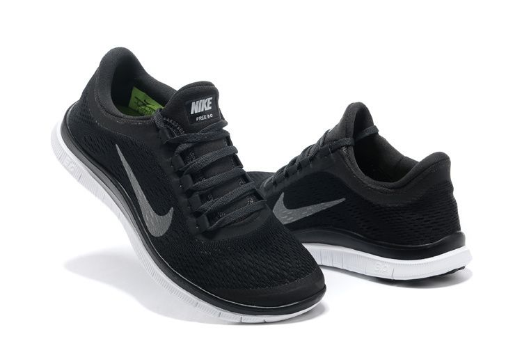 nike free run 3.0 v5 womens black and white nike shoes