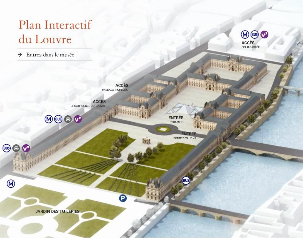 Map Of The Louvre Pyramid Louvre Pyramid Louvre Museum Louvre