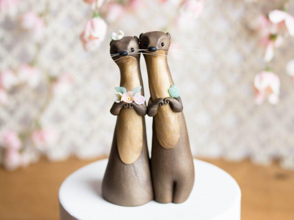 Otter Cake Toppers   Otter cake toppers, Cake toppers ...