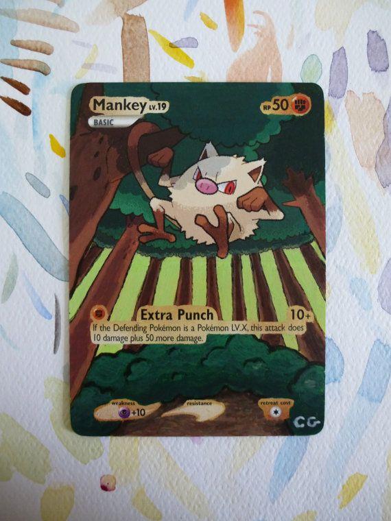 Painted Mankey Pokémon Card