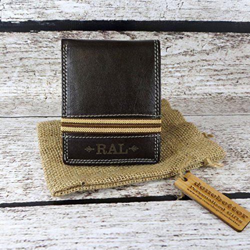 personalized bi fold mens wallet monogrammed gifts for men mans
