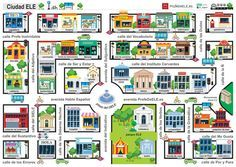 Mapa Ciudad Ele Un Mapa Con Mucho Juego Spanish Projects Spanish Lessons Spanish Classroom Activities
