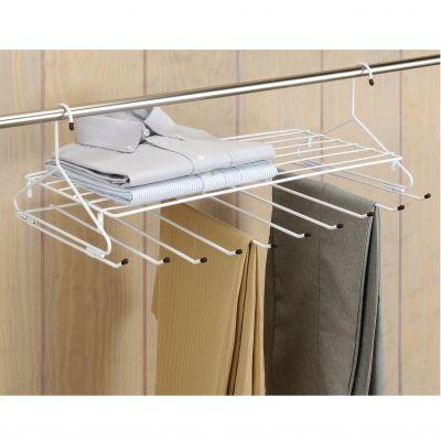 porte pantalon tag re organising and storing pinterest tag re dressing chambre et dressing. Black Bedroom Furniture Sets. Home Design Ideas