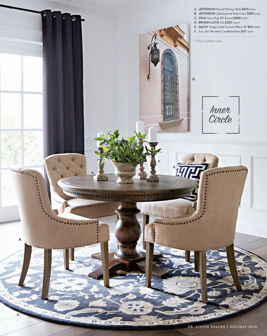 Living Spaces Product Catalog Holiday 2016 Page 24 25 Dining Room Small Round Dining Room Table Luxury Dining Room