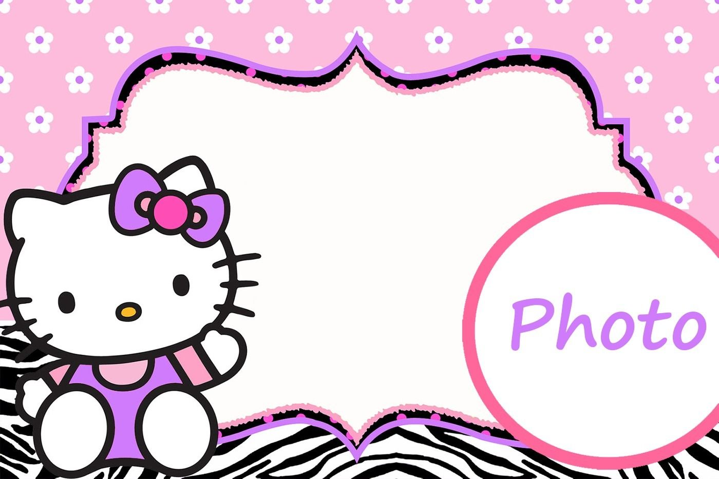 6fdf12633 Personalized Hello Kitty Invitation Template | Hello kitty birthday ...