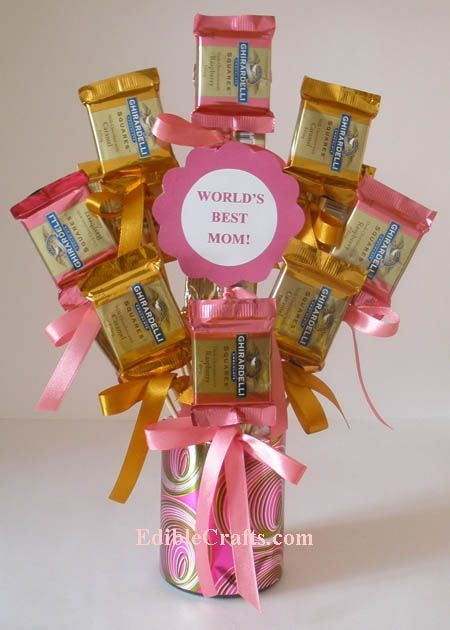 Candy Bouquet Mother S Day Gift Baskets Mothers Day Presents