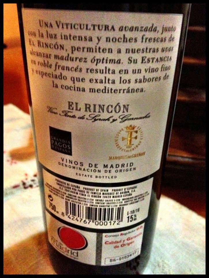 El Alma del Vino.: Bodega Marqués de Griñón Pagos de Familia El Rincón 2010.
