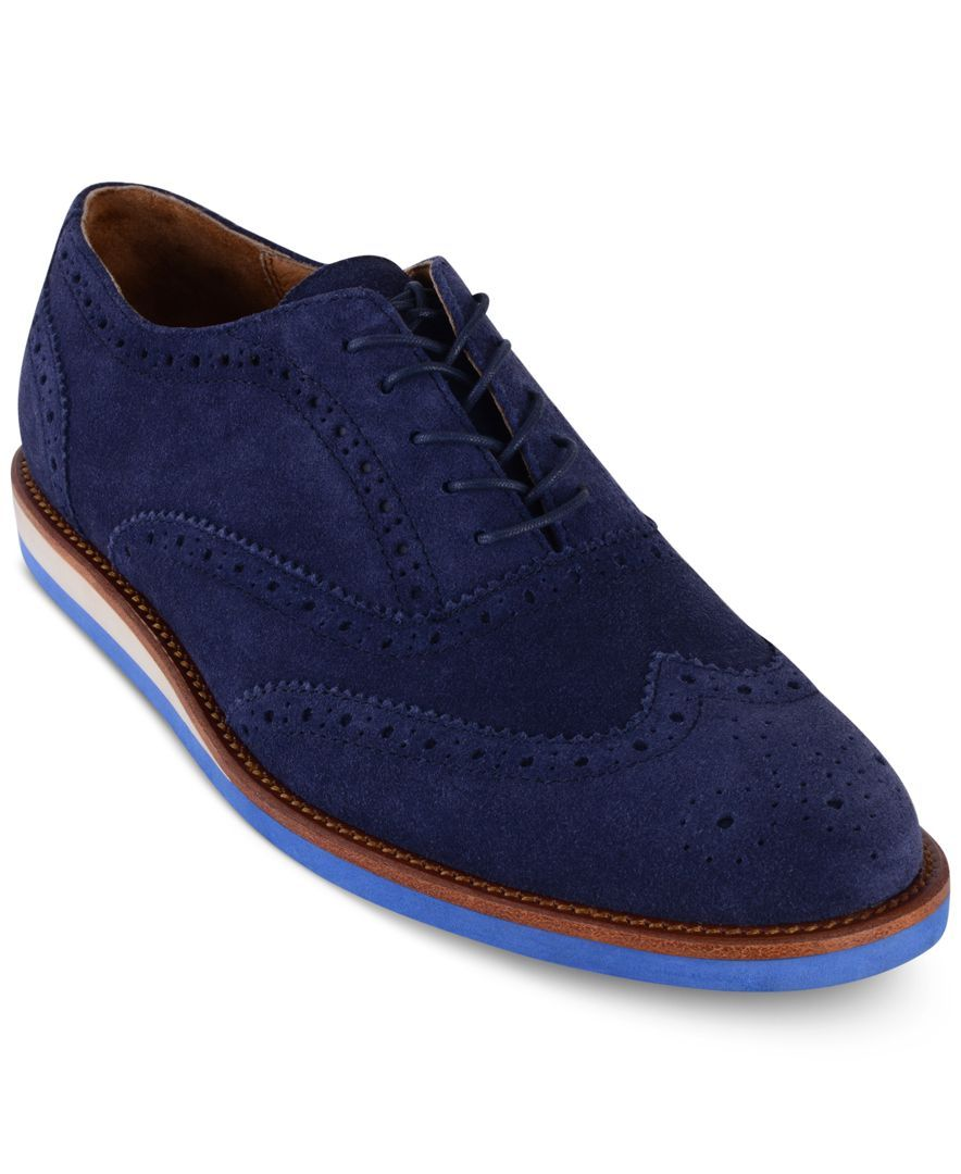 Polo Ralph Lauren Men\u0027s Johnsly Wedge Wingtip Oxfords - All Men\u0027s Shoes -  Men - Macy\u0027s