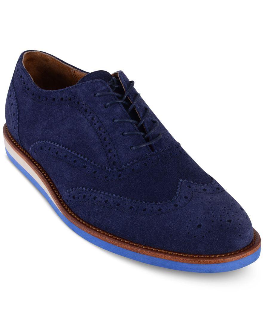 Polo Ralph Lauren Men\u0027s Johnsly Wedge Wingtip Oxfords - All Men\u0027s Shoes -  Men - Macy\u0027s