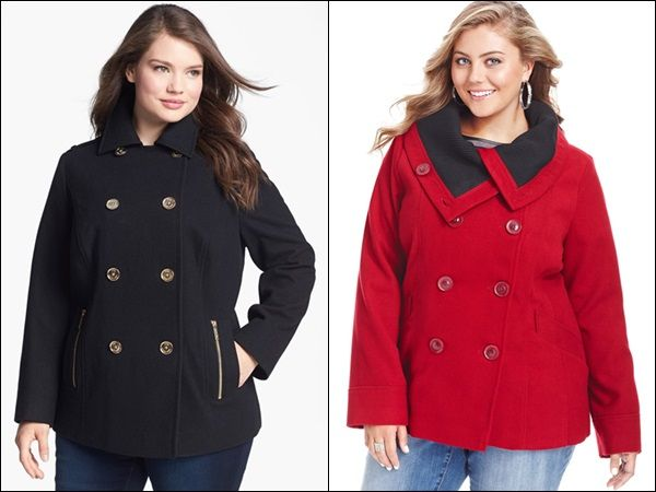 Pea Coats For Women Plus Size | Down Coat