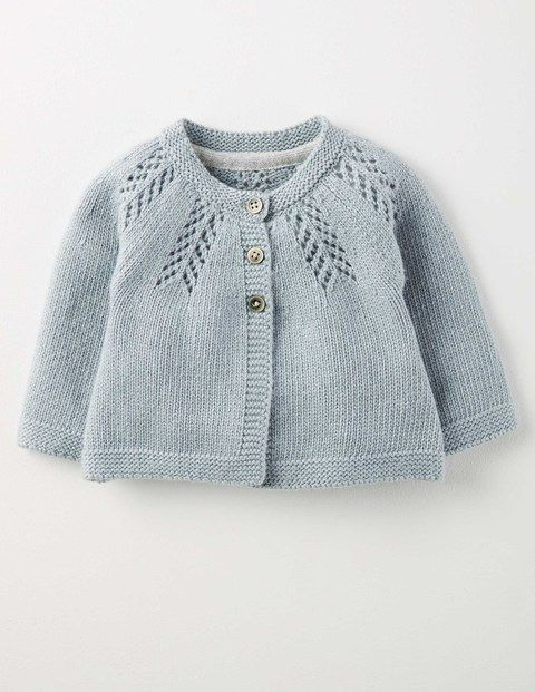 Elegant baby blue sweater with lace  f6664a9dc