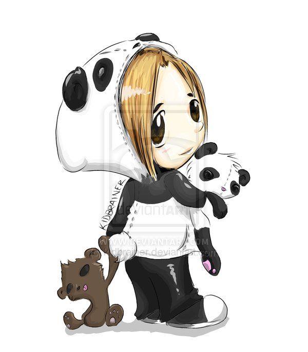 Panda Girl By Kidbrainer On Deviantart Panda Art Cute Panda Wallpaper Panda Artwork