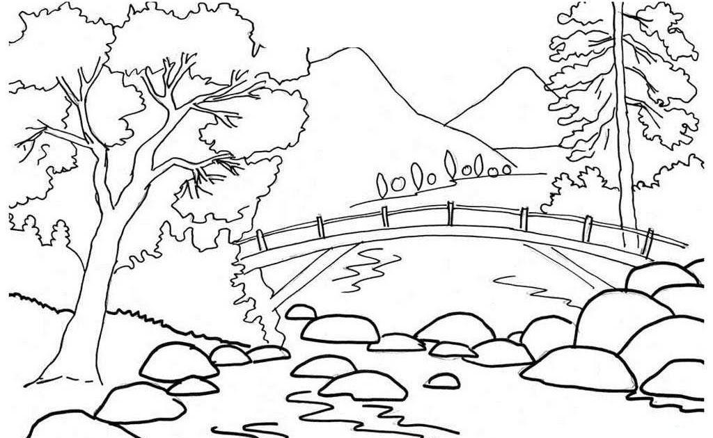 Sketsa Pemandangan Gunung Dan Sungai Sketsa Gambar Pemandangan Berupa Gunung Di Atas Terlihat Tandus Tidak Ada Pepohonan A Di 2020 Buku Mewarnai Gambar Poster Cetak