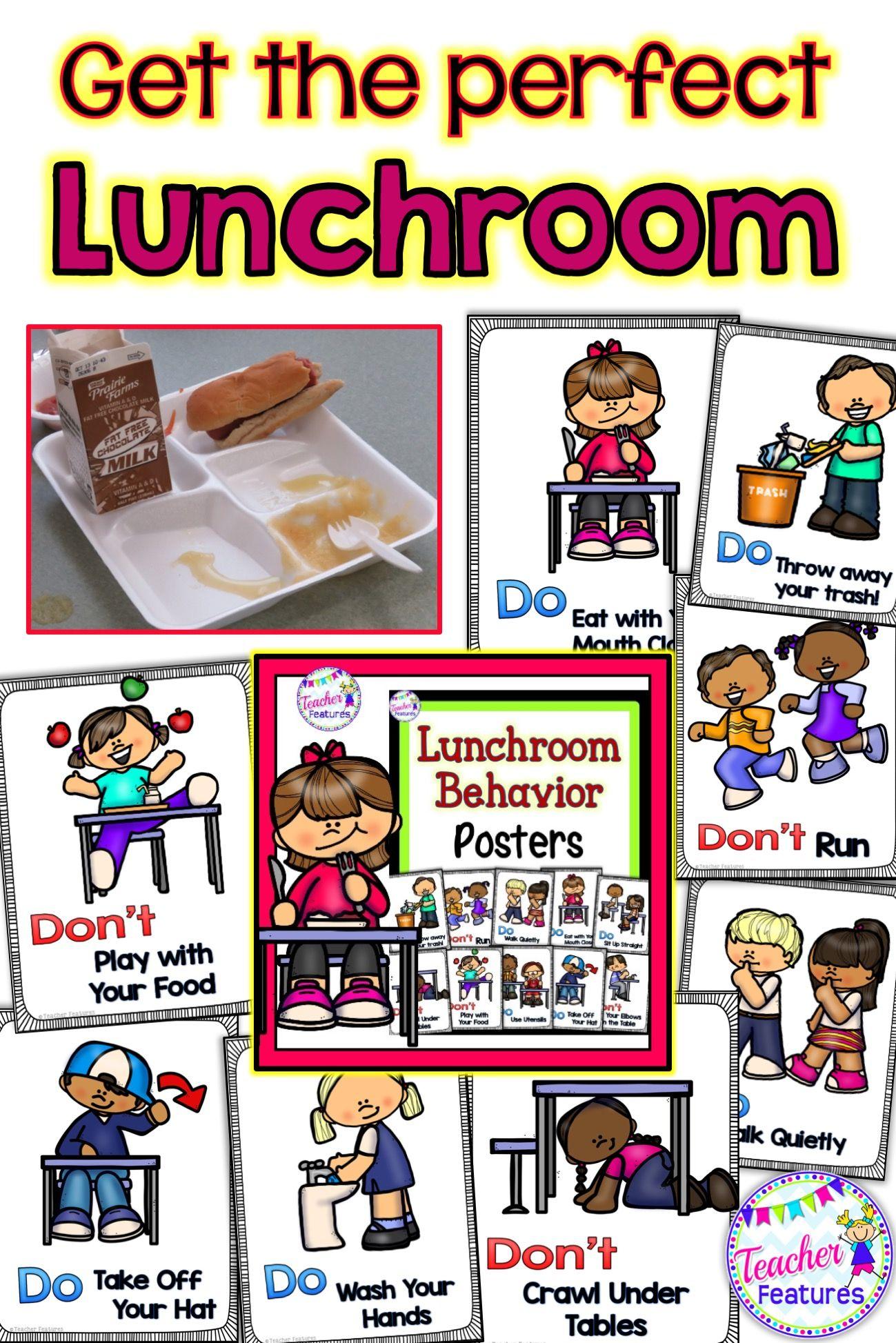 Lunchroom Rules Amp Behavior Posters