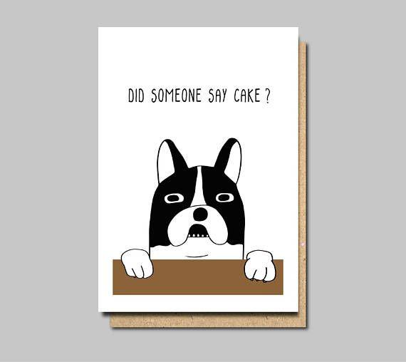 Funny Birthday Card Funny Dog Card Dog Birthday Card Vegan