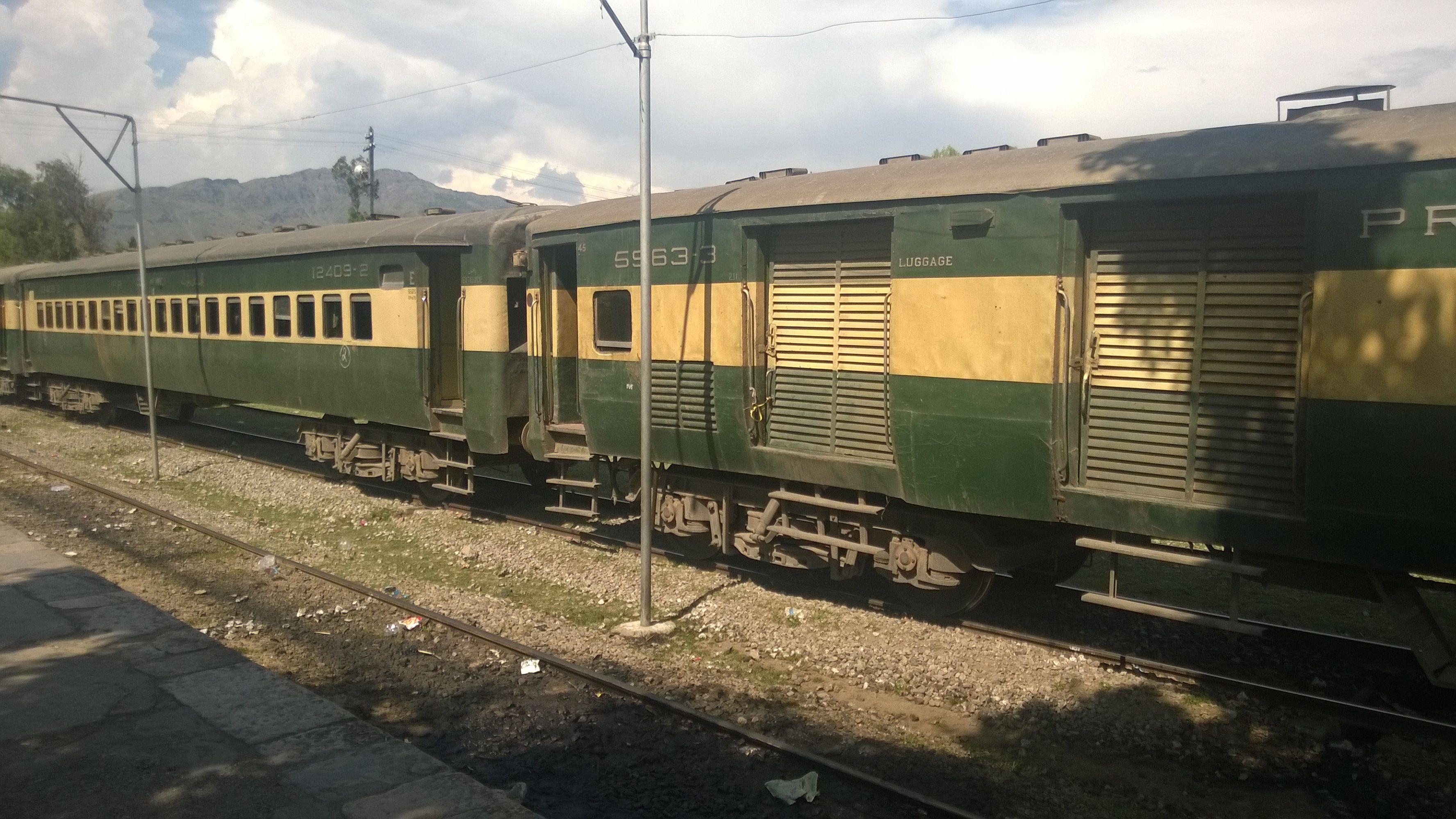 Rawalpindi-Hazara Express at Havelian Railway Station