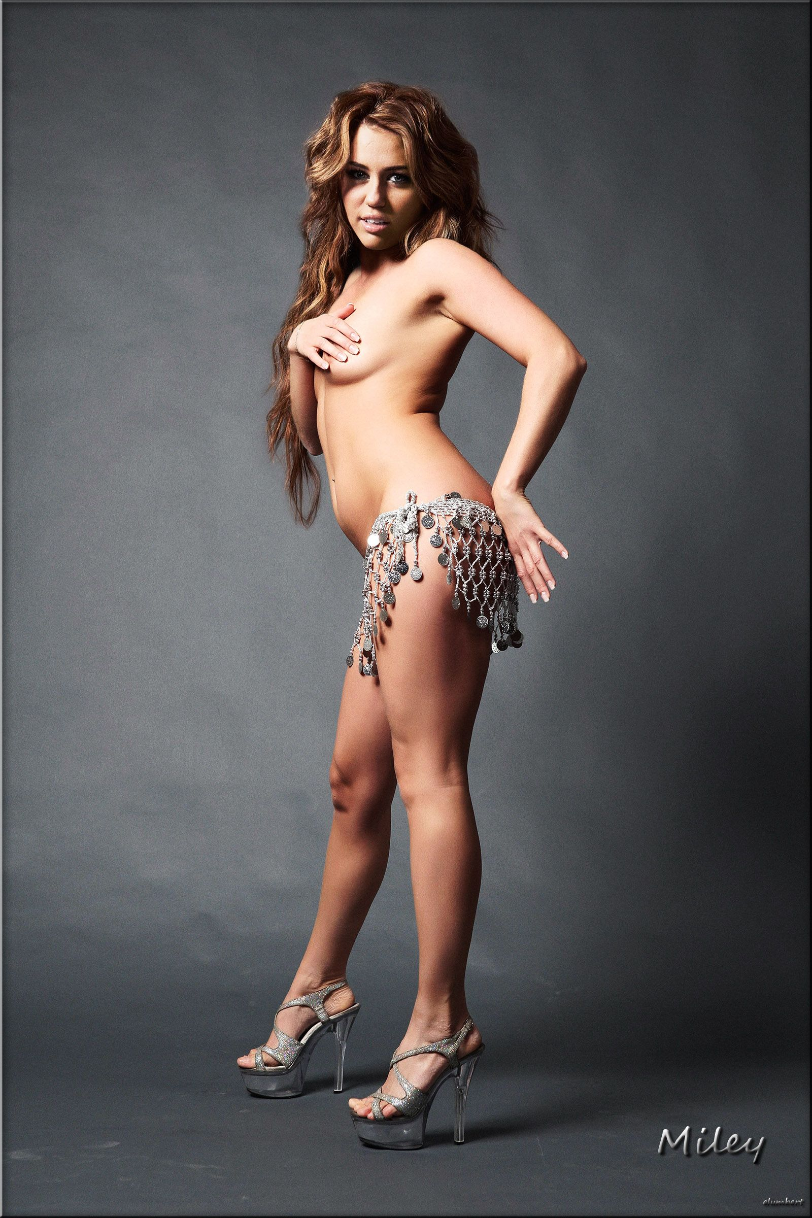 Topless Bellydancer Miley Cyrus