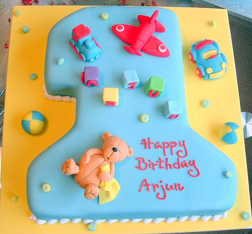 No.1 cake with teddy | Flickr - Photo Sharing!