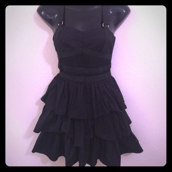 Closing Shop Sale Hot Topic Dress Black Dress from Hot Topic. The top of the dress has mesh between sections of black elastic. Hot Topic Dresses Mini