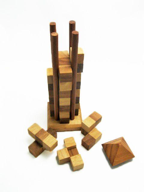 Skyscraper Wooden Strategy Game Brain Teaser Tower Shape Fun