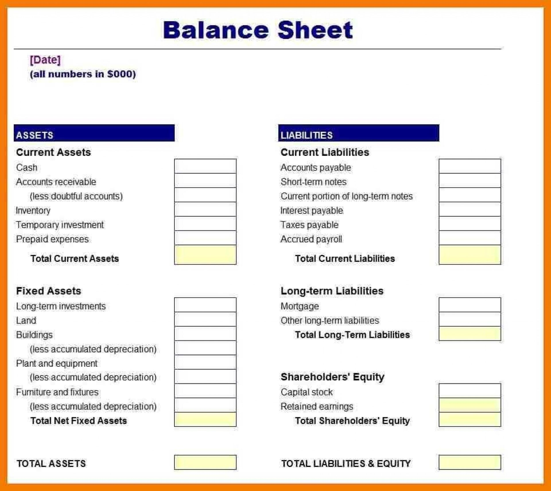 The Extraordinary 027 Balance Sheet Examples For Small Business Template Ideas Within Balance Sheet Templ Balance Sheet Template Balance Sheet Payroll Template