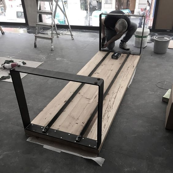 New Welding Art Decoration Is In Process Of Making Diy Dining Table Steel Furniture Metal Furniture