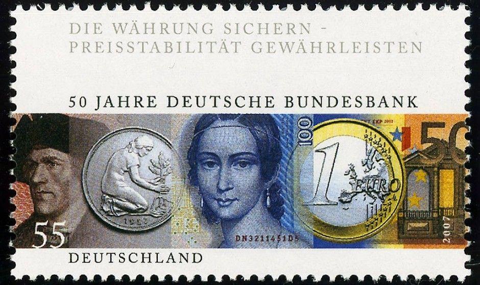 Deutschland 2017 Mark, Pfennig und Euro Geldscheine und