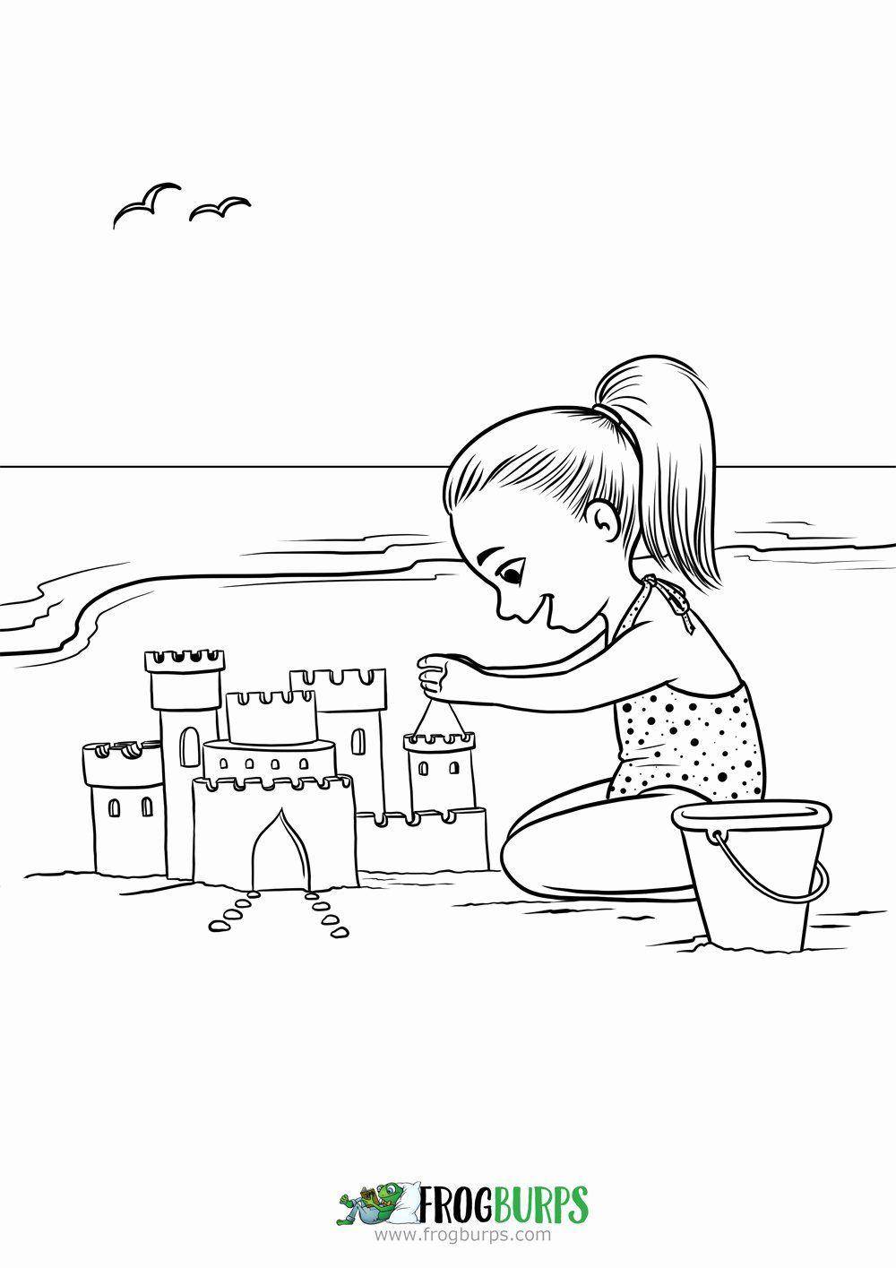 Sand Castle Coloring Page Unique Sand Castle Coloring Page Castle Coloring Page Coloring Pages Ladybug Coloring Page