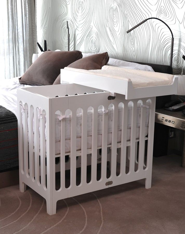 The Mini Crib Is In Bloom Arbors Nursery Small Space Nursery