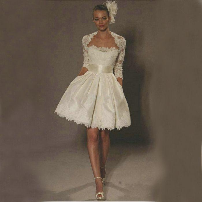 Vestidos para boda civil cortos pegados