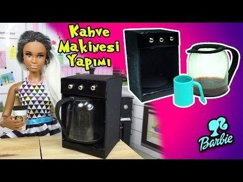 Barbie Evi Mutfak Eşyaları Yapımı - Kahve Makinesi - Kolay Barbie Eşyası - Oyuncak Yap - YouTube #barbiefurniture
