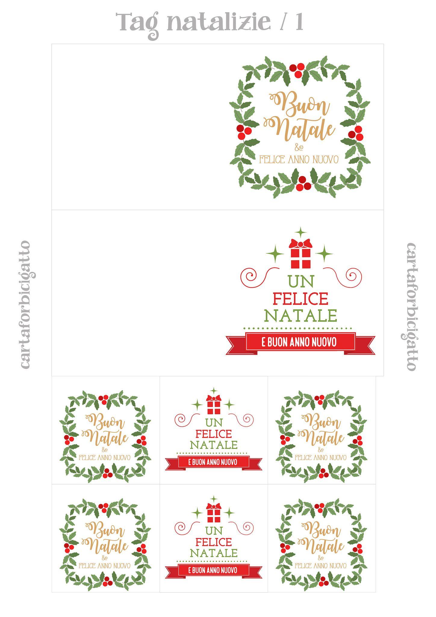 Etichette Natalizie Da Stampare tag natalizie da stampare - 1 (con immagini) | biglietto