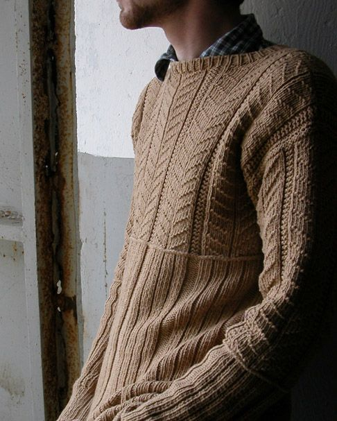 Jamesey - Fisherman's gansey knitted in one piece (S-XXL)