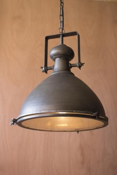 9 Farmhouse Lighting Ideas Industrial farmhouse, Brushed metal and