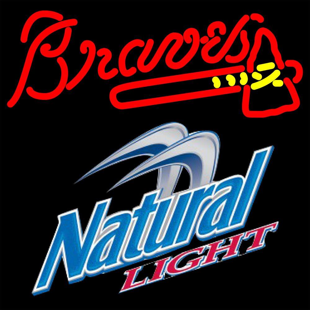Naturallight Atlanta Braves Mlb Neon Sign 3 0014 16x16 Natural Light With Mlb Neon Signs Beer With Sports Signs Makes A Gr Neon Signs Atlanta Braves Braves