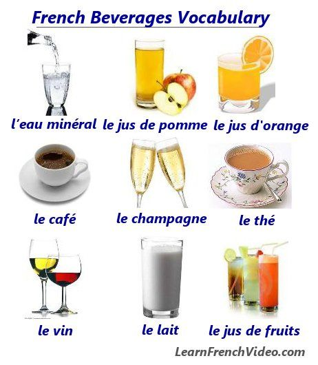 how to say drink in french