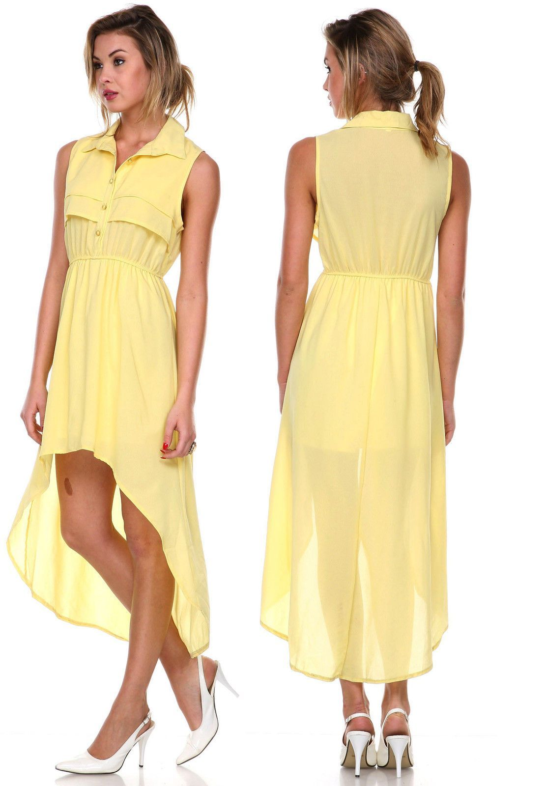 Strapless shirred waist flouncy women cocktail party high low large