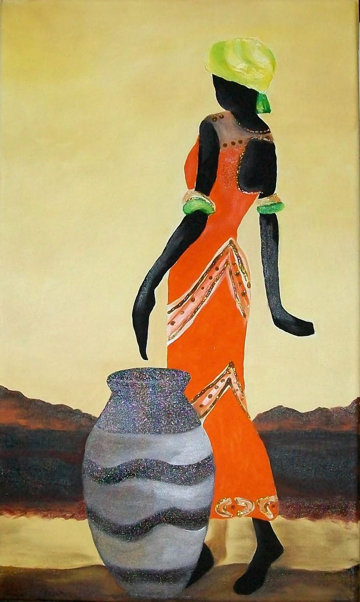 Negras pintura pinterest africanos negro y cuadro - Pintar sobre madera barnizada ...